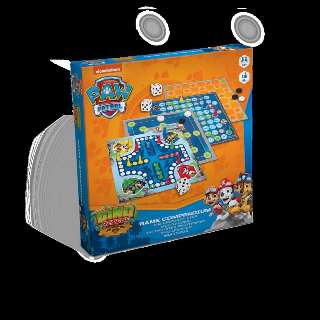gra psi patrol, cartamundi, wiele gier w jednym pudełku